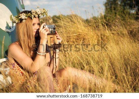 taking pictures - stock photo