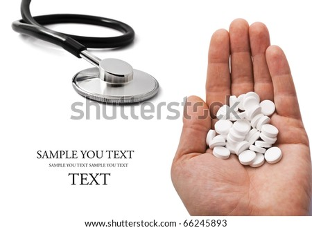 Taking Pills - stock photo