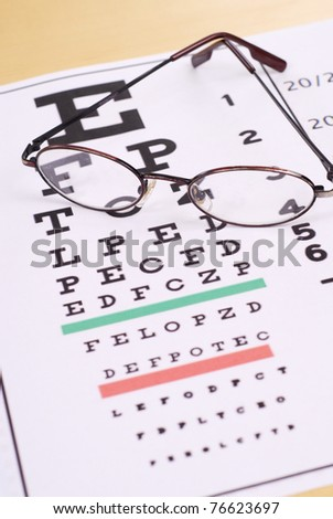 Taking the Vision Exam - stock photo