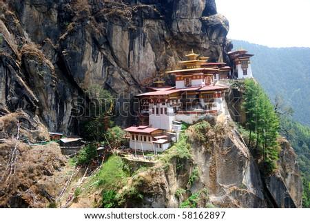 Taktshang Goemba, Bhutan - stock photo