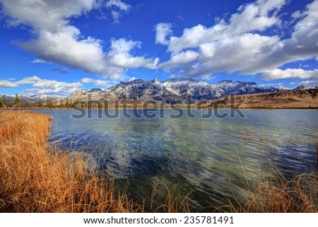 Talbot Lake in autumn, Jasper National Park, Alberta, Canada - stock photo