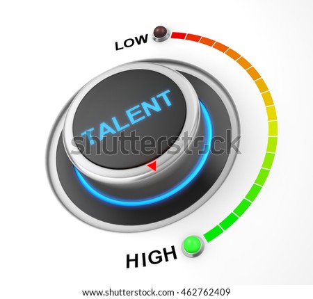 talent button position. Concept image for illustration of talent in the high position , 3d rendering