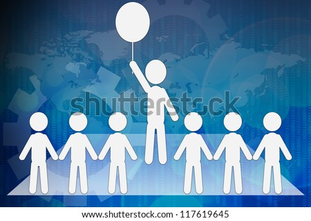 Talent person for hiring in business concept - stock photo