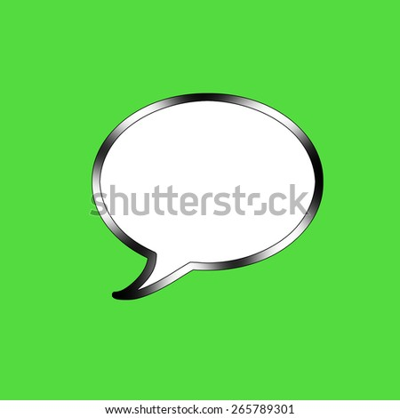Talk Bubble - stock photo
