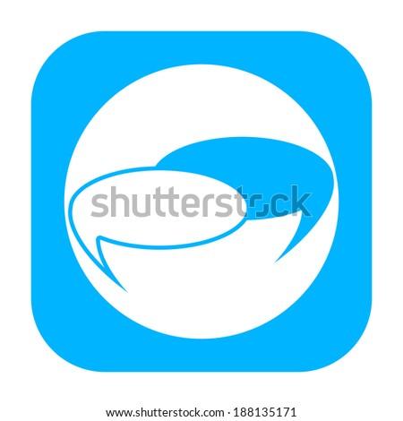 Talk bubbles icon - stock photo