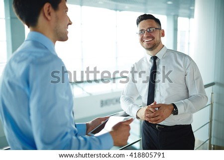 Talk of colleagues - stock photo