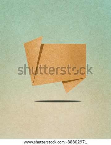 Talk tag recycled paper craft - stock photo
