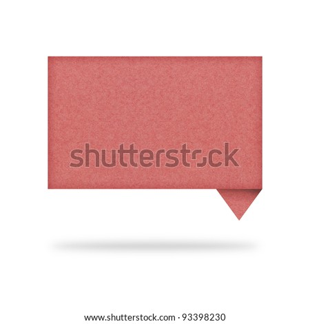 talk tag recycled paper on white background - stock photo
