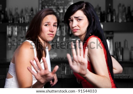 Talk to the hand - stock photo