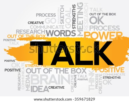 TALK word cloud, business concept - stock photo