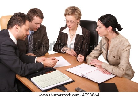 talkig about business strategy talkig about business strategy - stock photo