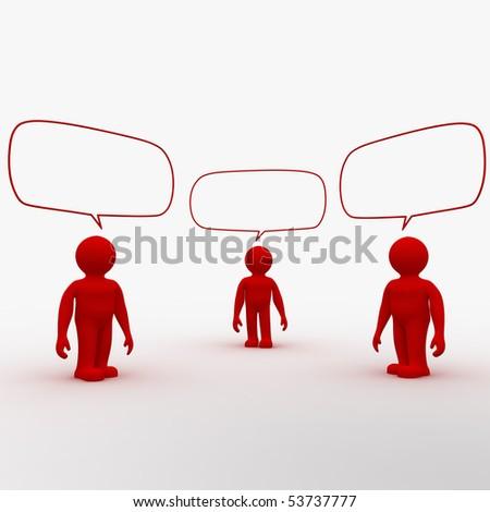 Talking - stock photo