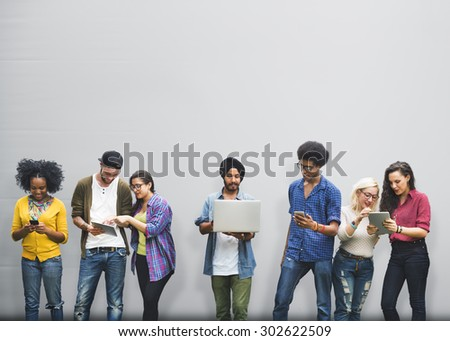 Talking Brainstorming Communication Friends Concept - stock photo