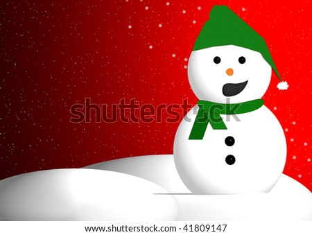 Talking snowman ready for your greeting or message