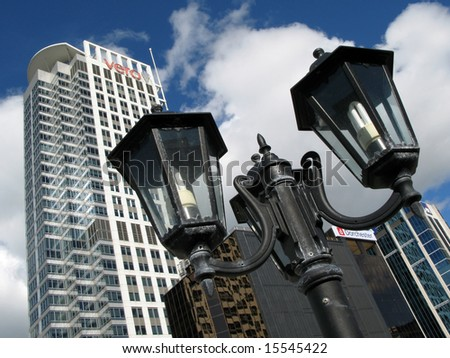 Tall Buildings - Aukland, New Zealand - stock photo