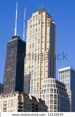 Tall buildings in Chicago, IL.
