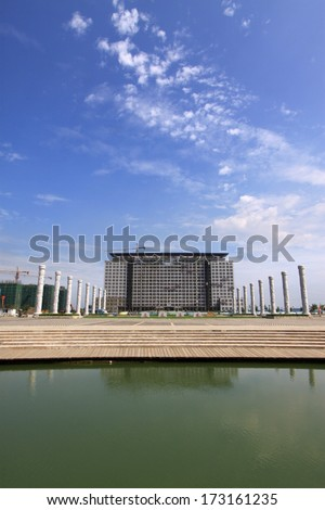 Tall buildings under the blue sky, northern china - stock photo