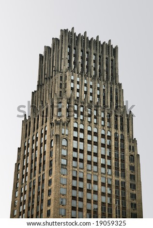 Tall Cathedral-like Skyscraper(Release Information: Editorial Use Only. Use of this image in advertising or for promotional purposes is prohibited.) - stock photo