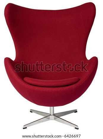 Tall curvy lounge chair. - stock photo