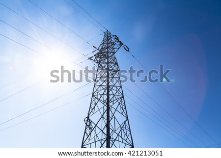 Tall electrical tower