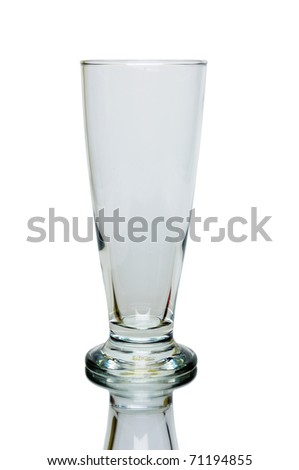 Tall glass isolated on white background