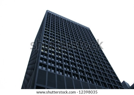 tall, isolated building - stock photo
