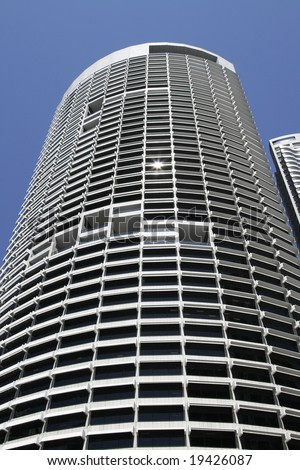 Tall Modern Urban Office Building In Sydney, Concrete And Glass Facade, Australia - stock photo