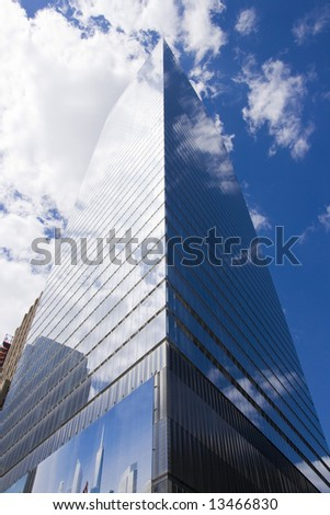 Tall office building, New York City - stock photo