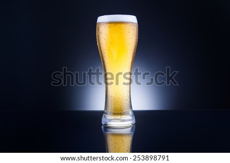 tall pint of beer