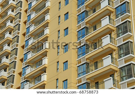 Tall residential building - stock photo