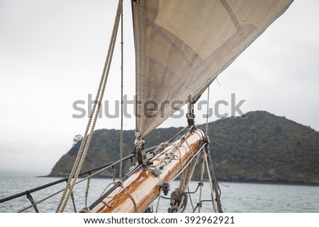 Tall ship in the Bay of Islands
