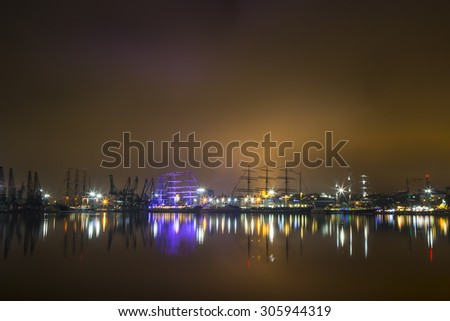 Tall Ships Regatta in the night