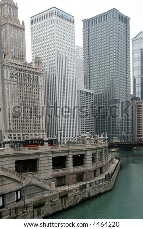 Tall skyscrapers in big city - stock photo