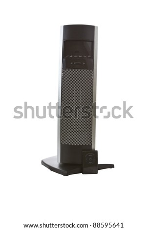 Tall space room heater on white background - stock photo