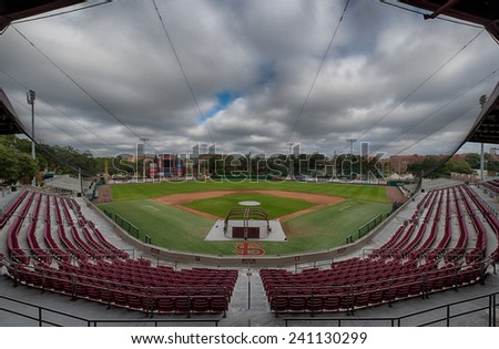 TALLAHASSEE, FLORIDA - DECEMBER 6: Mike Martin Field at Dick Howser Stadium on the campus of Florida State University on December 6, 2014 in Tallahassee, Florida  - stock photo