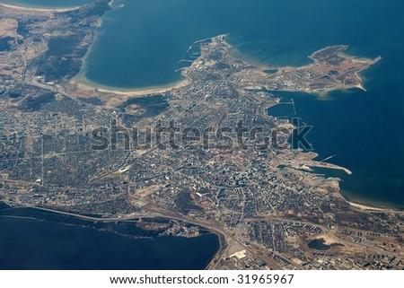 Tallinn, capital of Estonia from the air - stock photo