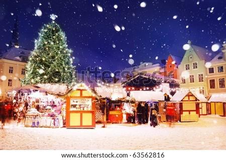 Tallinn Christmas Market. - stock photo