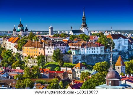 Tallinn, Estonia at the old city. - stock photo