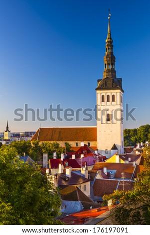 Tallinn, Estonia old city view. - stock photo