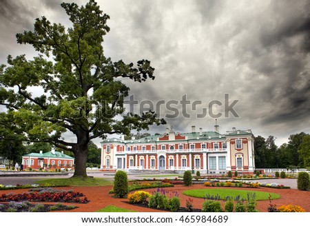 TALLINN, ESTONIA- SEPTEMBER 7, 2015: Kadriorg Palace, at Kadriorg Park on September 7, 2015 in Tallinn, Estonia.