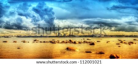 Tallinn in color - stock photo