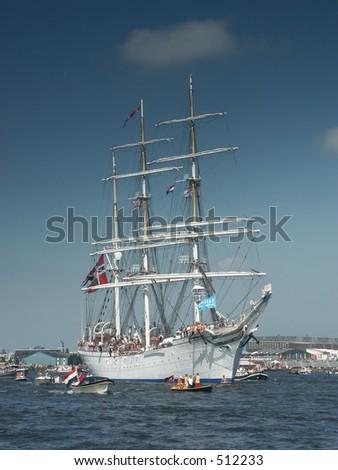 Tallship - stock photo