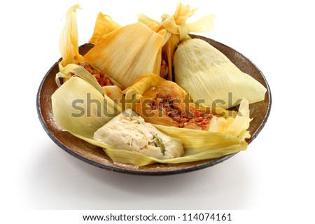 tamales, mexican cuisine - stock photo