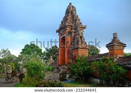 Taman Ajun royal Hindu temple, Mengwi, Bali, Indonesia - stock photo