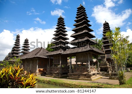 Taman Ayun Royal Temple in Bali, Indonesia - stock photo