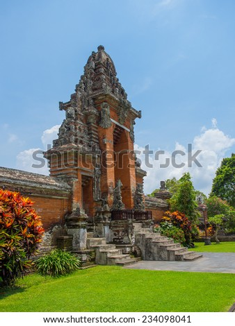 Taman Ayun temple in Bali Indonesia - stock photo