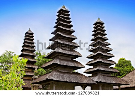 Taman Ayun temple on Bali island - stock photo