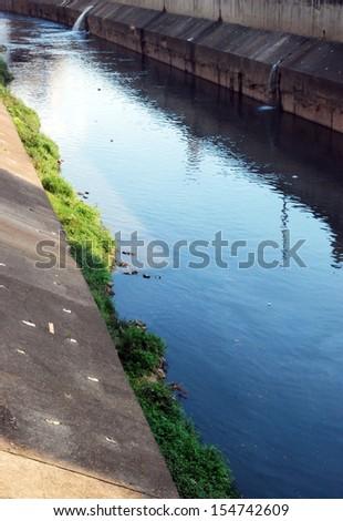 Tamanduatei River - Sao Paulo - Brazil - stock photo