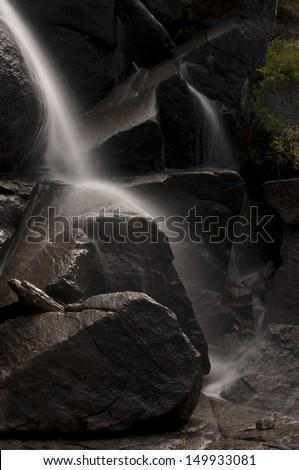Tamarack Waterfalls Yosemite - stock photo