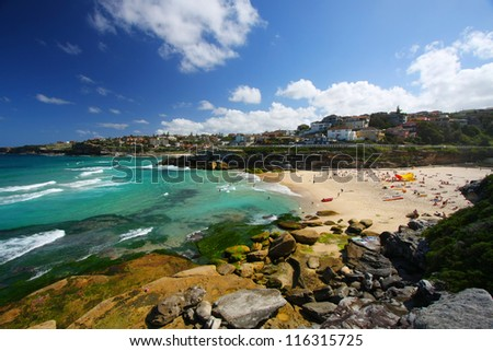 Tamarama Beach in Sydney, Australia - stock photo